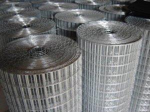 Galvanised Steel Weld Mesh Rolls For Garden Fencing